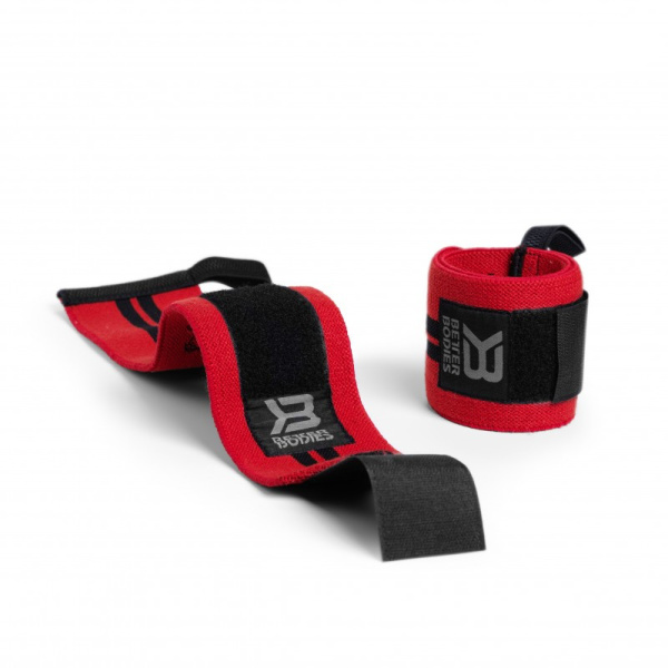 Better Bodies Wrist Wraps 18 Bright Red