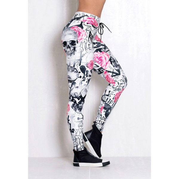 Rock Code Leggings Elastic Artistic