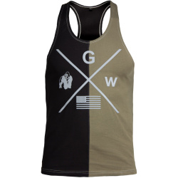 Gorilla Wear Sterling Stringer Tank Top black/ army green L