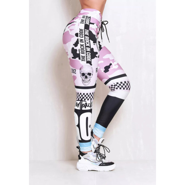 Rock Code Leggings Elastic Soldier