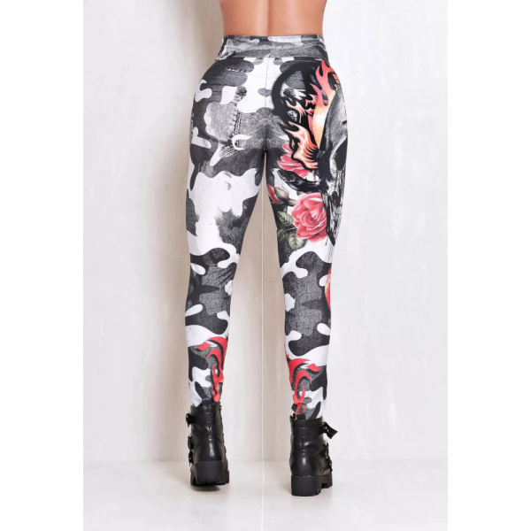 Rock Code Leggings Elastic Scarface